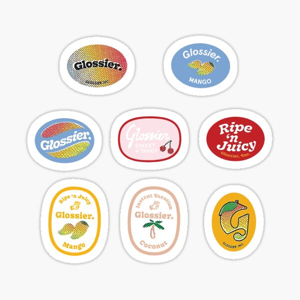 glossier mango stickers Sticker