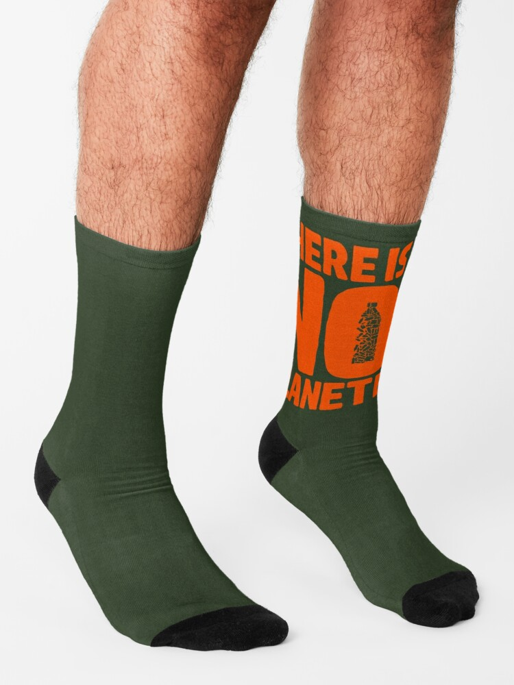Alternate view of No Planet B Socks