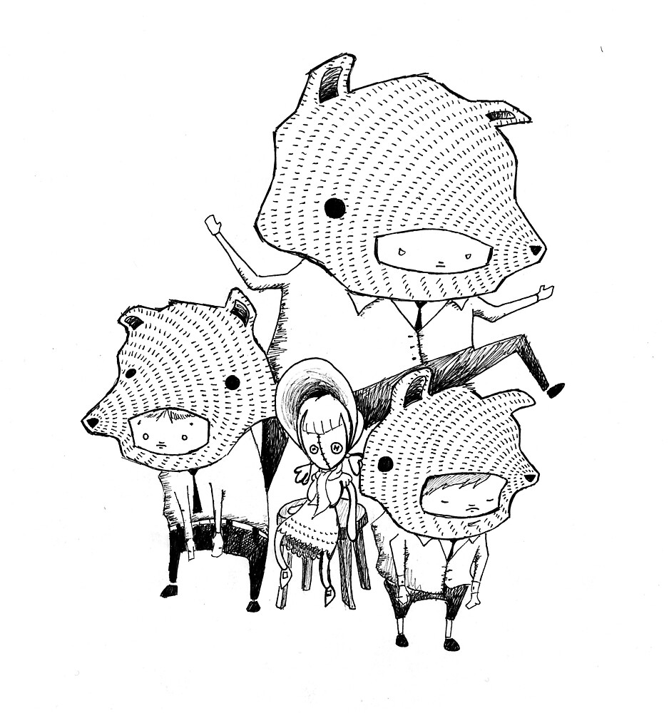 3 Blind Mice- by hand by Artfolk