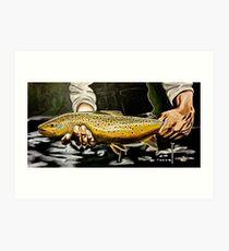 Lámina artística North Platte Brown - Pintura de trucha