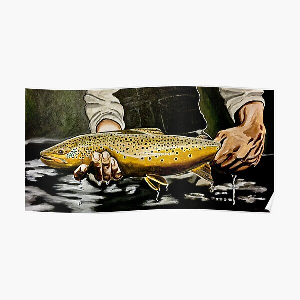 North Platte Brown - Trout Painting Poster