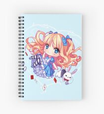 Following the white bunny Spiral Notebook