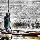 Lone Fisherman-Nigar River. by joshuatree2