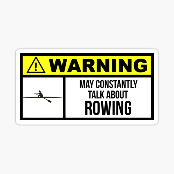 Funny Rowing Sticker