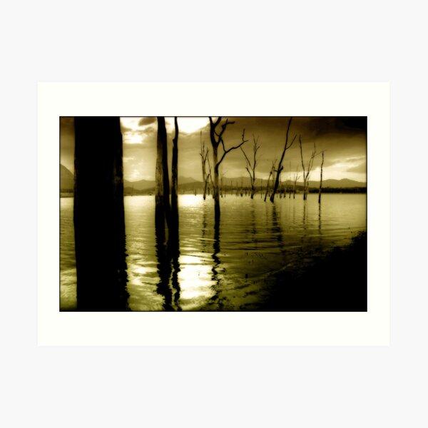 Lake Moogerah Mood Art Print