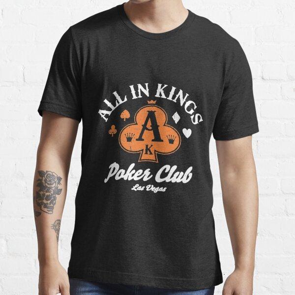 Recyclerog All In Kings Poker Club Las Vegas Recycled Cotton Size medium poker las vegas Essential T-Shirt