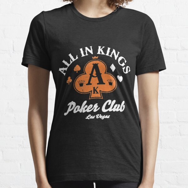 Recyclerog All In Kings Poker Club Las Vegas Recycled Cotton Size medium poker Essential T-Shirt