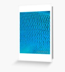 Blue Scale Greeting Card