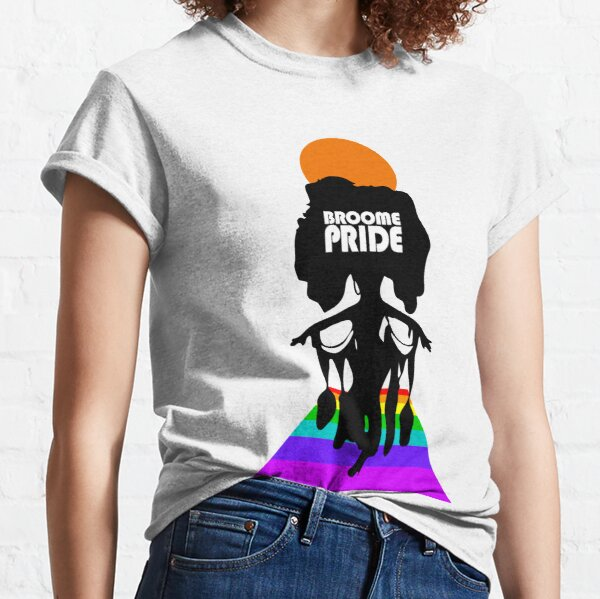 Broome Pride Stepping Out – White Logo Classic T-Shirt