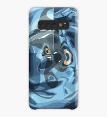 CRazy Oil PaintinG Blue/Grey Glass Case/Skin for Samsung Galaxy