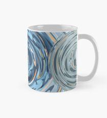 CRazy Oil PaintinG Blue/Grey Glass Classic Mug
