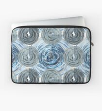 CRazy Oil PaintinG Blue/Grey Glass Laptop Sleeve