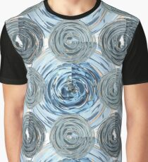 CRazy Oil PaintinG Blue/Grey Glass Graphic T-Shirt