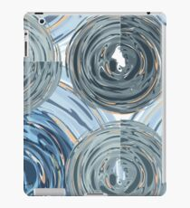 CRazy Oil PaintinG Blue/Grey Glass iPad Case/Skin