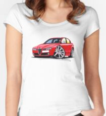 Alfa Romeo 159 Red Women's Fitted Scoop T-Shirt