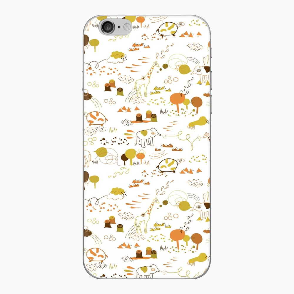Animal Pattern Series – Safari Wildlife iPhone Skin