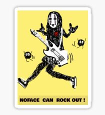 Noface can ROCK OUT! Sticker