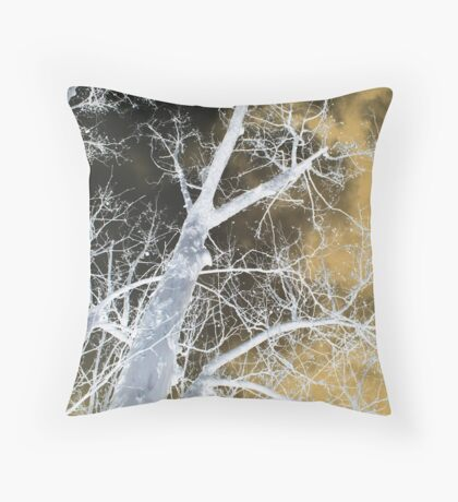 ghostly night Throw Pillow