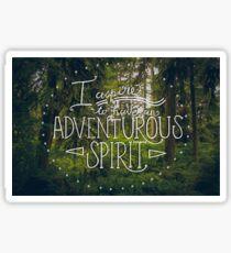 Adventurous Spirit Sticker