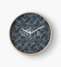 CRazy Oil PaintinG Blue/Grey Eye Clock