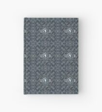 CRazy Oil PaintinG Blue/Grey Eye Hardcover Journal