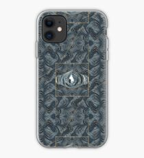 CRazy Oil PaintinG Blue/Grey Eye iPhone Case