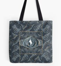 CRazy Oil PaintinG Blue/Grey Eye Tote Bag