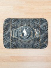 CRazy Oil PaintinG Blue/Grey Eye Bath Mat