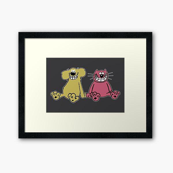 Roobarb and Custard Framed Art Print