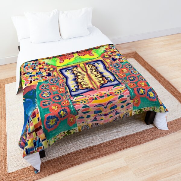 Handmade, silkdesigns, colorful Comforter