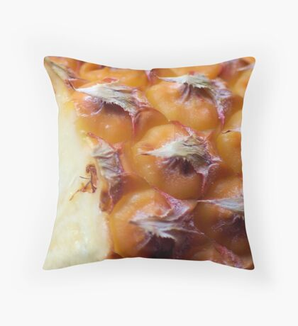 THE PINEAPPLE AS IN MACRO Throw Pillow