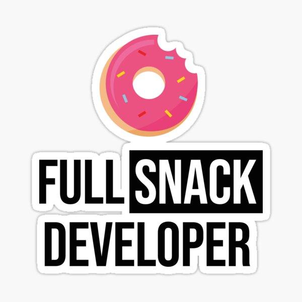 Full Stack Developer - Full Snack Developer Sticker