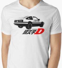Initiales D-Logo T-Shirt mit V-Ausschnitt für Männer