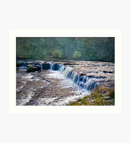The Upper Falls - Aysgarth. Art Print