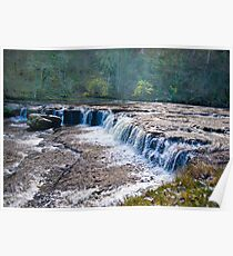 The Upper Falls - Aysgarth. Poster