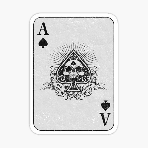 Ace Of Spades (design en détresse) Sticker