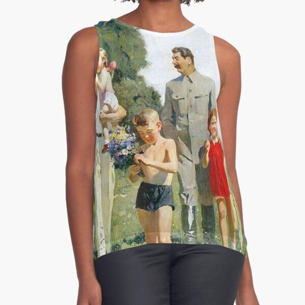 Stalin and Molotov with children, 1947. Artist: Yefanov, Vasili Prokofyevich (1900-1978) Stalins cult of personality #Сталин #ИосифВиссарионович #Ежов #Берия #Жданов #Молотов #Ленин #ГУЛАГ Sleeveless Top