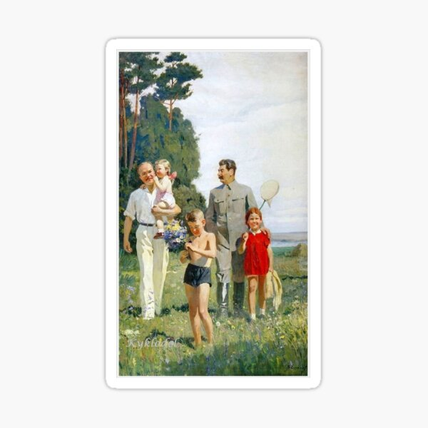 Stalin and Molotov with children, 1947. Artist: Yefanov, Vasili Prokofyevich (1900-1978) Stalins cult of personality #Сталин #ИосифВиссарионович #Ежов #Берия #Жданов #Молотов #Ленин #ГУЛАГ Sticker