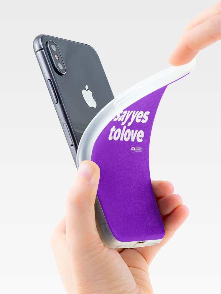 Alternate view of # Say Yes To Love (white text) iPhone Case & Cover
