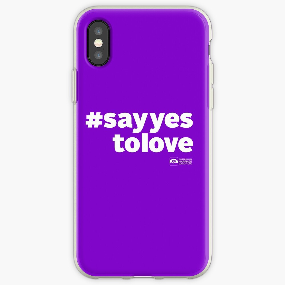 # Say Yes To Love (white text) iPhone Case & Cover