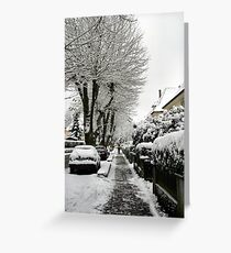 Strasse in Oberkirch Greeting Card