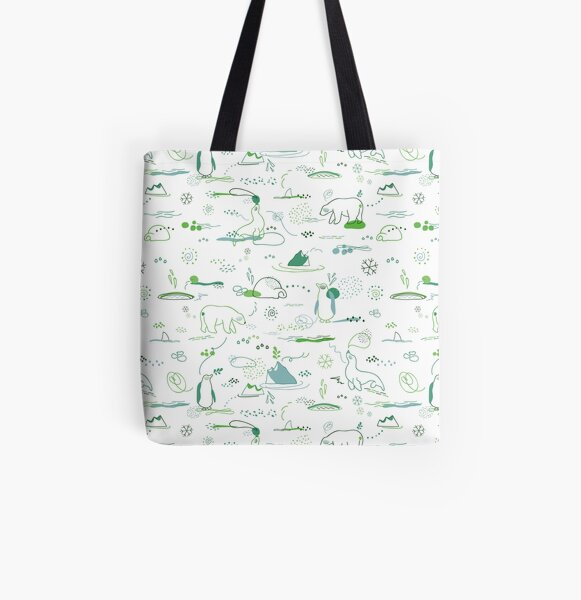 Animal Pattern Series – Arctic Creatures All Over Print Tote Bag
