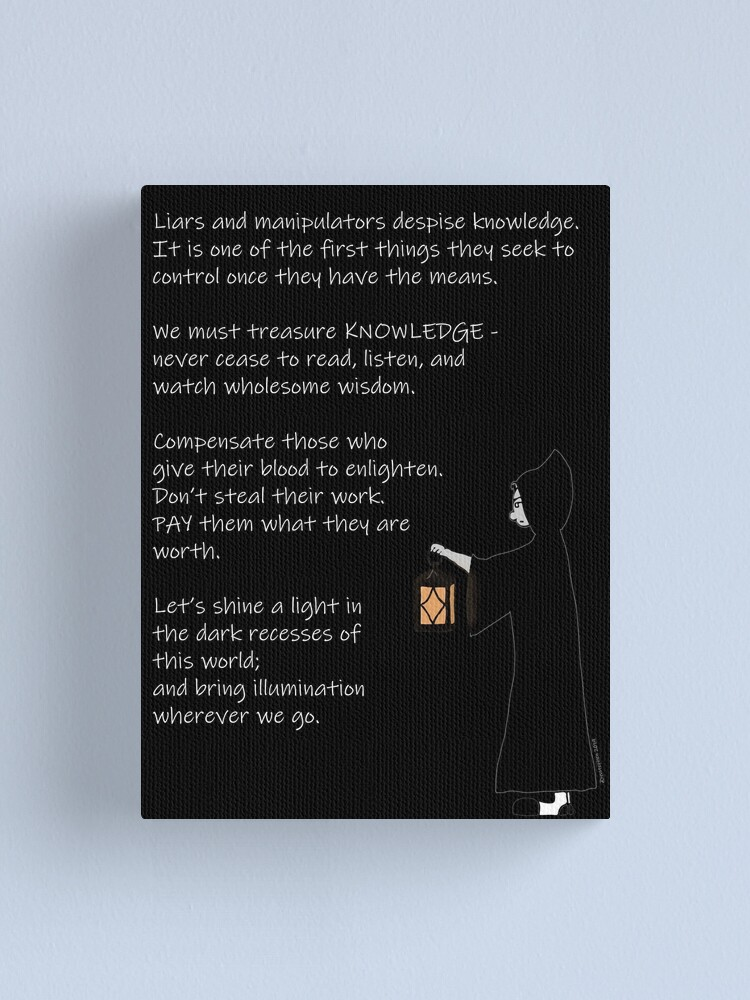 Alternate view of The Light of Knowledge Canvas Print