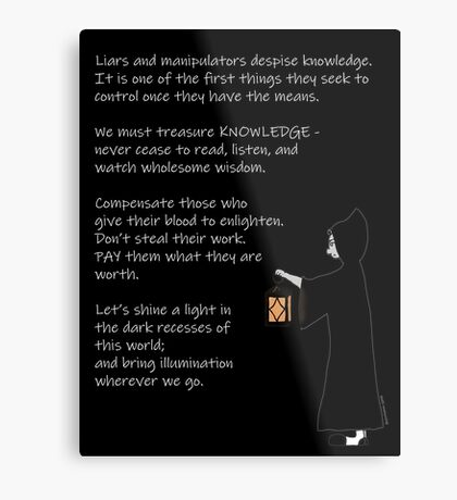 The Light of Knowledge Metal Print