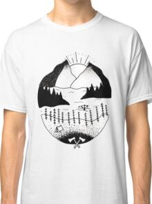 Mountain Scene Classic T-Shirt
