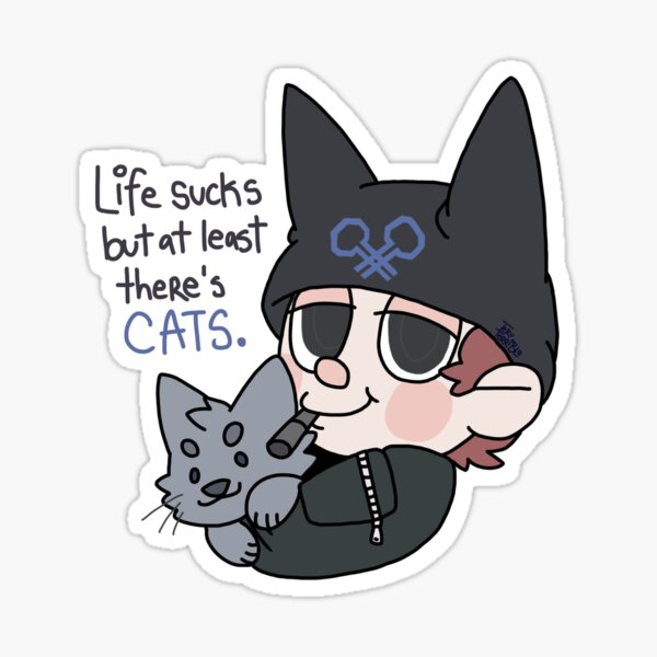 Ryoma Hoshi Loves Cats Sticker By Teruterrible Redbubble That's a ryoma hoshi beta design!? redbubble