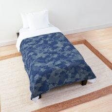 Blue Digital Camouflage  Comforter