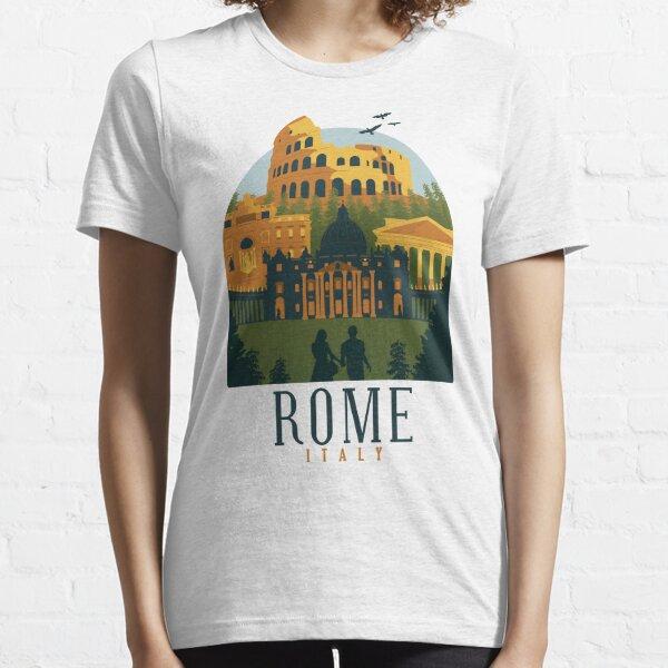Rome Italy Skyline Shirt Design Gift present birthday christmas Essential T-Shirt