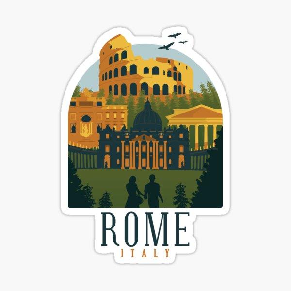 Rome Italy Skyline Shirt Design Gift present birthday christmas Sticker