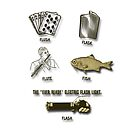Flush, Flask, Flute, Fish, Flash Fun In Gold Tones by MHirose